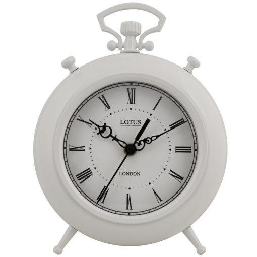 ساعت فلزی رومیزی SAN LUIS کد BS-500 رنگ WHITE